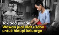 Bantu Difabel Wawan Nafkahi Keluarga..